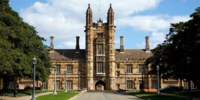 Old Neogothic Sandstone Brick Building, Sydney Uni / University, Australia