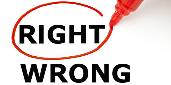 Right wrong ethics integrity